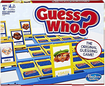 Guess Who Classic Game Tabletop Style 2 Game Boards 48 Face and 24 Mystery Cards
