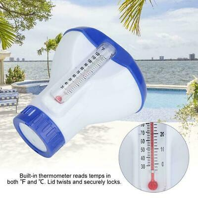 Chemical Floater Schwimmbad Spa Chlorspender Reiniger Tab W / Thermometer