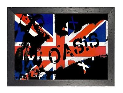 Oasis 2# Noel & Liam Gallagher Poster English Music Band Photo Rock Union Jack