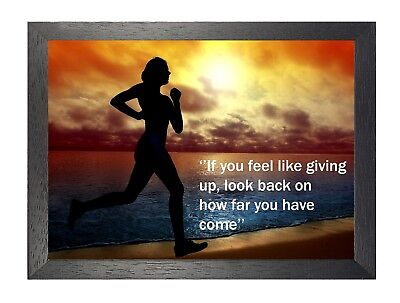 """Running 17 Motivation Inspiration Quote """"If You Feel Like Giving Up..."""" Poster"""