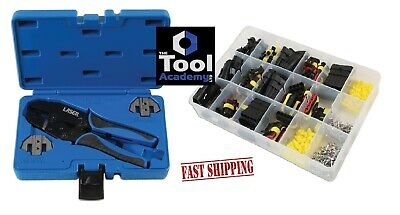 Ratchet Action Crimping Pliers Tool SUPASEAL Connectors + BOX of 424 Connectors