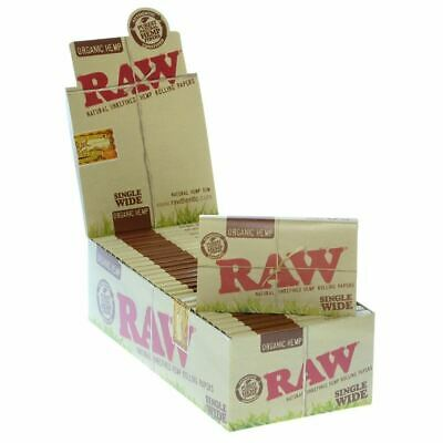 SALE Lot Of  10 Packs RAW Natural Single Wide Organic Hemp Double Rolling Papers