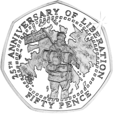 Falkland Islands 2007 25th Anniversary of the Liberation 50p Coin BU