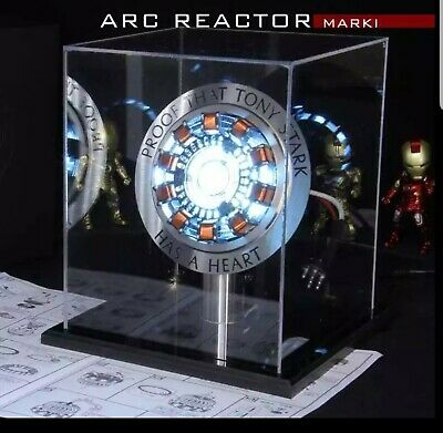 Iron Man Light Arc Reactor Display Stand And Crystal Case