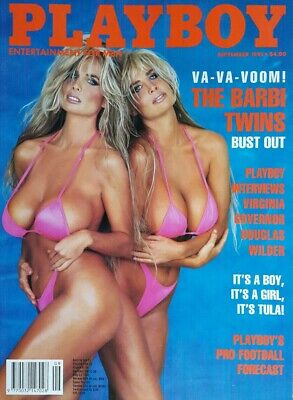 Playboy September 1991 The Barbi Twins Mens Vintage Adult Glamour *FREE POST*
