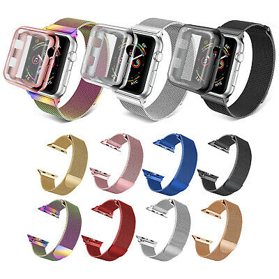 Milanese Mesh Magnetic Wrist Band Strap Case For Apple Watch 4 3 2 38/40/42/44mm