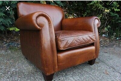 Laura Ashley Leather Armchair