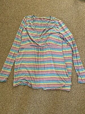 Gap Maternity And Nursing Rainbow Stripe Long Pajamas. Size M