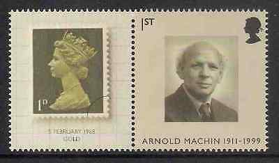 GB 2007 sg LS40 40th Anniv Machin Smiler Sheet Single Stamp With Label Litho MNH