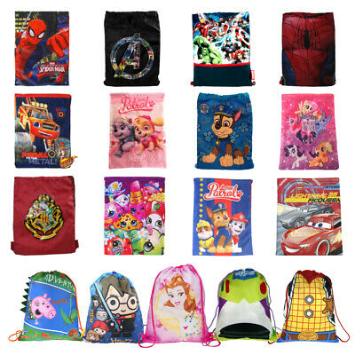 Disney School Drawstring Book Bag Sport Gym Swim PE Dance Girls Boys Backpack