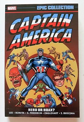 Captain America Hero or Hoax Marvel Epic Collection Graphic Novel Comic Book