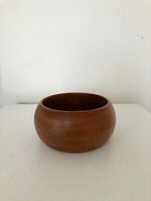 Vintage Hand carved Small Wooden Bowl