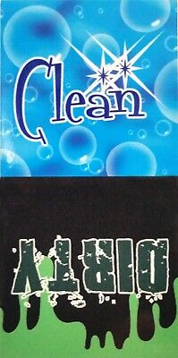 """4"""" x 2"""" Clean / Dirty LAMINATED Dishwasher Magnet"""