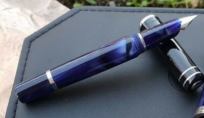 Marlen Esercito Slim Stilografica Fountain Pen #Special Collection #Silver