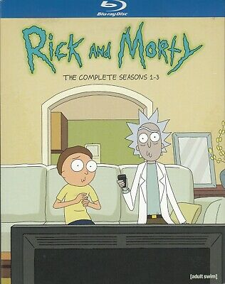 Rick & Morty The Complete Seasons 1-3 (Bluray)(3 Disc Set) (Used)
