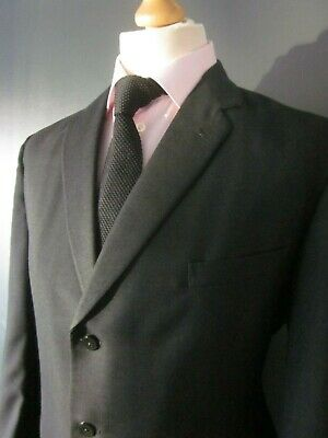 VINTAGE 1950s FOSTER BROTHERS SUIT 40x30x30 BLACK S.BREAST BUTTON-FLY WOOL-TERYL