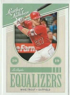 2019 Leather & Lumber Mike Trout  Equalizers  Anaheim Angels
