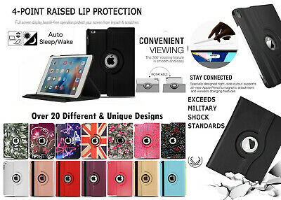 For Apple iPad 9.7 2017/18/Air 2/Pro Mini  Leather Tablet Stand Flip Cover Case