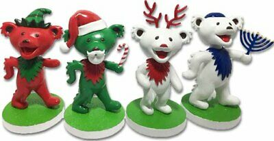 Grateful Dead: Holiday Dancing Bear Bobble Head 4-Pack