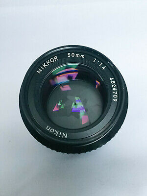 Nikon Nikkor 50mm f 1.4 AI lens, Near Mint, Fast Prime Perfect for Mirrorless