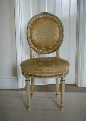 Retro Vintage Shabby Chic French Louis Boudoir Chair Hall Dressing Bedroom