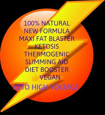 60 KETO HIGH VOLTAGE ADVANCED FAT WEIGHT LOSS Capsules Ketosis/Keto Diet BHB cap