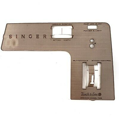 Singer 758 Part - Faceplate / Front Panel - ORIGINAL PARTS