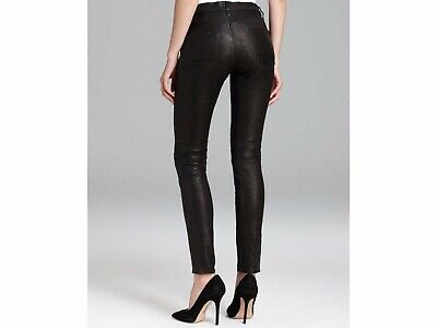 bd56d2a771571a ASOS LEATHER LOOK Leggings with Elastic Slim Waist BLACK SIZE UK 14 ...