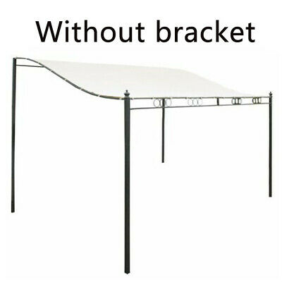 Metal Wall Gazebo Canopy Awning Sun Shade Marquee Shelter Doors Porch 3-Sizes