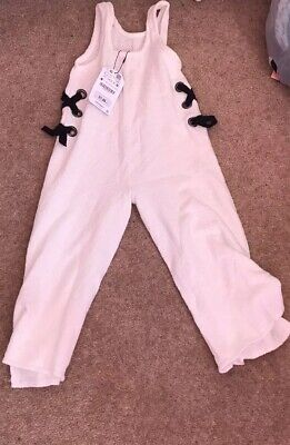 Zara Knit Girls Collection Winter White Jumpsuit age 5