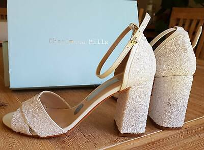 Charlotte Mills George Pearl Wedding Bridal Shoes size 36