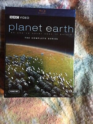 Planet Earth - The Complete Collection (Blu-ray Disc, 2007, 4-Disc Set) Used