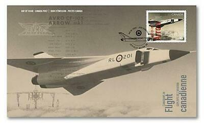 2019 Canada 🍁 AVRO CF-105 ARROW First Day Cover 🍁 Canadians In Flight Series