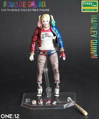 Crazy Toys Dc Comics Suicide Squad Harley Quinn 1/12 Th Action Figure New In Box