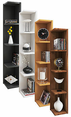 VCM Corner shelf Floating Wall Storage Unit Bookcase Wooden Display Honsa Stand
