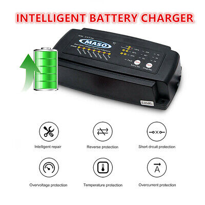 MASO Electronic Car Battery Charger 12 V 2/4/8 A Intelligent Automobile Bike