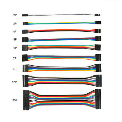 DuPont 2.54mm Pitch Ribbon Connector Wire Cable 20cm 2/3/4/5/6/7/8/9/10/12/20P