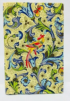 Vintage Hardcover Colorful Birds/Butterflies, Address / Telephone Book, Italy