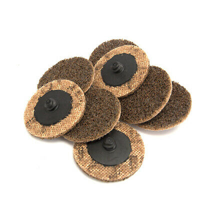 """10Pcs 2""""Roloc Coarse Sanding Disc Roll Lock Abrasive Pad For Surface Cleaning"""