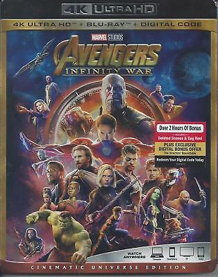 The Avengers Infinity War (4K Ultra Hd/Bluray)(2 Disc Set)(Used)