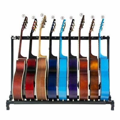 9 Way Guitar Rack Stand Holder For Multiple Guitars Electric Acoustic Bass SP