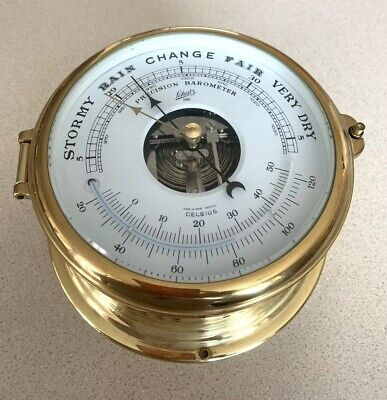Schatz 1881 Royal Mariner Nautical Precision Barometer Germany Vtg Collectible