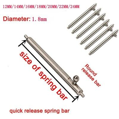 20Pcs Spring Bar 304 Stainless Steel Quick Release Watch Band Strap Link Pin Bar