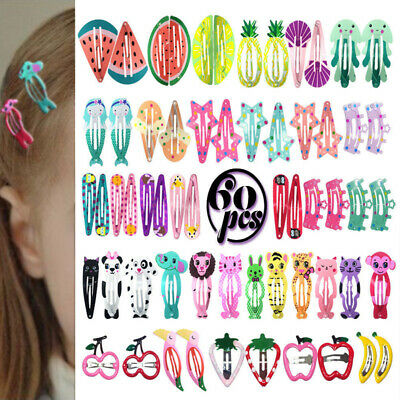 60Pcs Girls baby Hair Clips Snaps Hairpin Girls Kid Hair Bow Accessory Wholesale