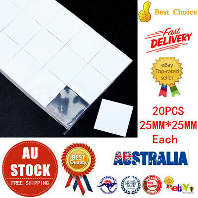 20PCS 25 x 25mm Silicone Based Thermal Pad Conductive Adhesive Tape Heatsink AU