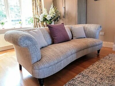 New -Ex Display Parker Knoll Isabelle Large 2 Seater Sofa - Grey with Cushions