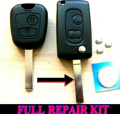 For Citroen 2 Button Flip Remote Key Case C1 C2 C3 C4 C5 Xsara Picasso Repair