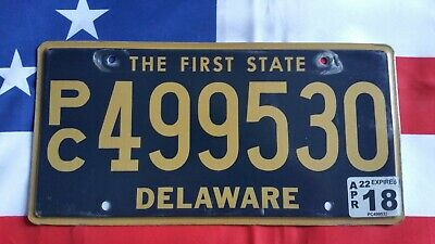 Plaque d'immatriculation Delaware PC 499530 US USA license plate