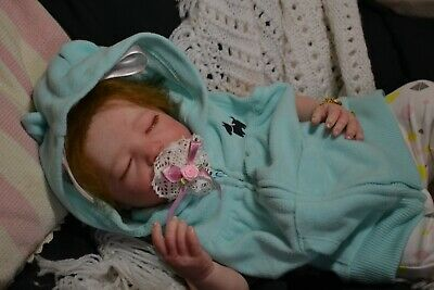 Gorgeous Reborn Baby GIRL Doll EMMA was Realborn Brittany Sleeping  COMPLETED
