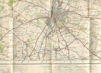 Leicester 1928 One Inch Ordnance Survey Popular Edition Sheet 63